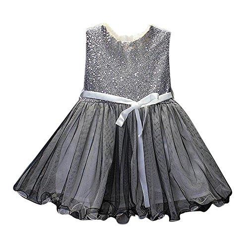 Cramberdy Baby Mädchen Kleider, Kleinkind Cute Baby Baumwolle Blumenkleid Sommerkleidung Kinder Tees Kleid T-Shirt Kleider Outfit ärmellos Prinzessin Sommer Kleider
