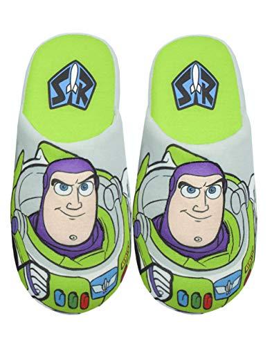 Disney Pixar Toy Story Buzz Lightyear Parcial 3D Boy de Zapatillas de casa