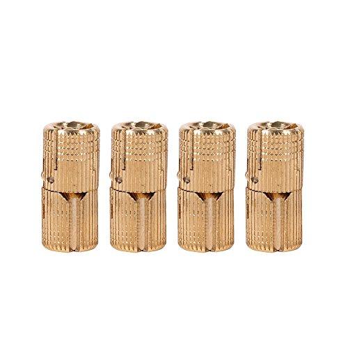 4 Pcs / paket Messing Versteckte Verdeckte Scharnier Unsichtbare Barrel Scharnier für DIY Schmuck Box Hand Handwerk Gold(10mm)