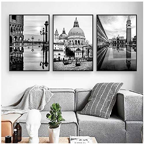 Cuadro lienzo Venecia Paisaje italiano Carteles impresiones