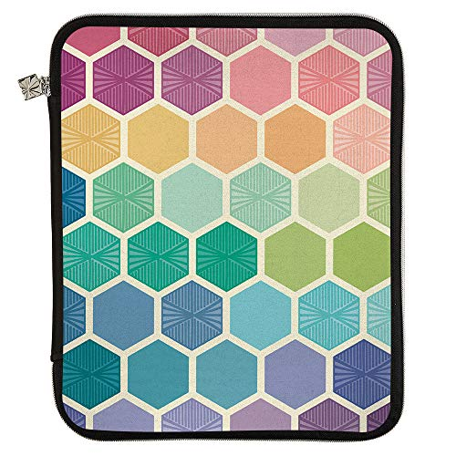Erin Condren Medium Planner Folio - Hexagon, Perfect Organizer for Documents, Planners, and Notebooks. Portfolio Case Holder with Zipper and Inner Pouch