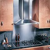 Broan-NuTone Elite Wall-Mounted Chimney Hood, Stainless Steel Hood with Internal Blower for Kitchen, 7.0 Sones, 370 CFM, 36'
