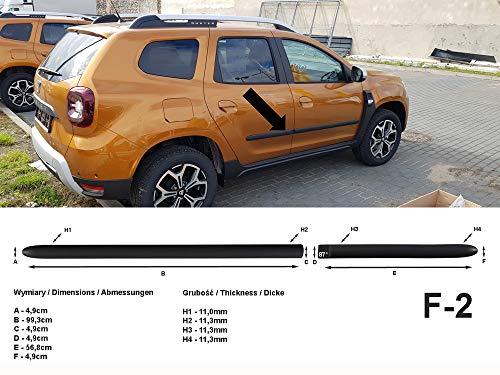 Spangenberg Seitenschutzleisten schwarz passend für Dacia Duster II SUV 2. Generation ab Baujahr 10.2017- F2 (3700002)