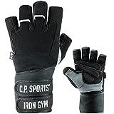C.P.Sports - Guante de Gimnasia Profesional de Doble Vendaje, Guante de Fitness,...
