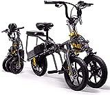Bicicletas Eléctricas, 14' Electric trekking / bicicleta de ruta, de 3 ruedas plegable bicicleta eléctrica for los adultos, 350W extraíble de litio de la batería de 48 V del motor ligero de bicicletas