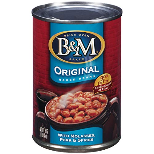 B&M Baked Beans, Original Flavor, 16 Ounce Cans (Pack of 12)