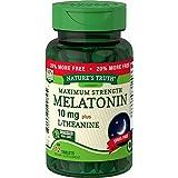 Nature's Truth Maximum Strength Melatonin 10 mg Plus L-Theanine Capsules, 72 Count