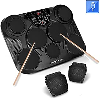 Pyle-Pro Portable, Tabletop Set Machine, Electric Drum Pads,LED Display, Mac & PC (PTED01)