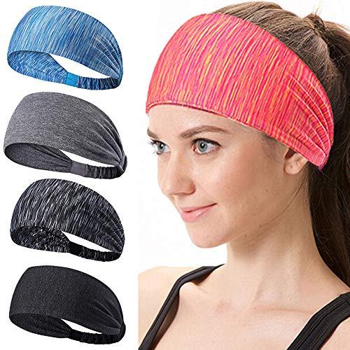 iClosam 3 Pack Sport Hoofdbanden voor Vrouwen Mannen, Lichtgewicht Zacht Lekkend Stretchy Atletische Haarbanden, Dunne Elastische Workout Sport Hoofd Bands Sweatbands voor Running/Yoga/Pilates/Dansen/Fietsen/Gym