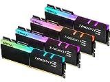 G.SKILL 64GB (4 x 16GB) TridentZ RGB Series DDR4 PC4-28800 3600 MHz 288-Pin Desktop Memory Model F4-3600C18Q-64GTZR