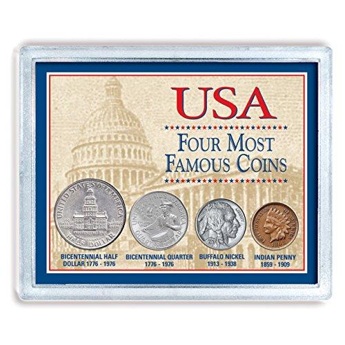 Moneda Americana Tesoros de Estados Unidos Cuatro Monedas Más Famosas