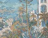 YUHHGFK DIY Pintura por Números Patio destacado Pint por Número de Kits con Pinceles y Pinturas para Adultos, niños y Principiantes Decoraciones Hogar - 40 X 50 cm (con Marco de Madera)