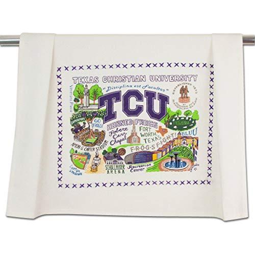 catstudio Texas Christian University (TCU) Collegiate Dish & Hand Towel   Great for Kitchen, Bar, & Bathroom