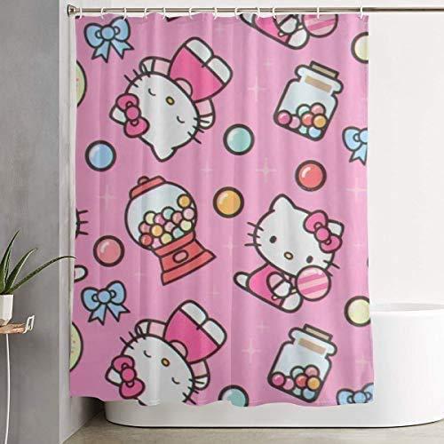 milkcolor Duschvorhang Hello Kitty mit Candy Waterproof Curtain 60 x 72 Zoll