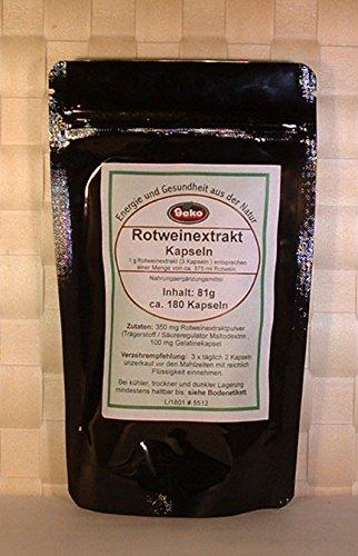 Rotweinextrakt-Kapseln 81g ca.180 Kapseln a´450mg - OVP