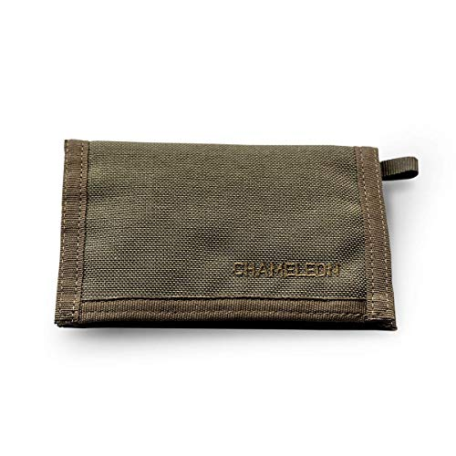 CHAMELEON  Velcro  Bifold  Mens Wallet-Military and Tactical Men Wallet-Extra Capacity Card Holder Wallet-Thin Front Pocket Travel Wallet-Best Nylon Travel Pouch and Card Wallet