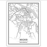 xwpox Plakat Bosnien-Herzegowina Schwarz Weiß Welt