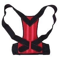 【𝐁𝐥𝐚𝐜𝐤 𝐅𝐫𝐢𝐝𝐚𝒚 𝐒𝐚𝐥𝐞】矯正ベルト、背中をまっすぐにするオープンショルダーブラック+レッドスパイン固定ベルト、女性男性用子供(red, XL)