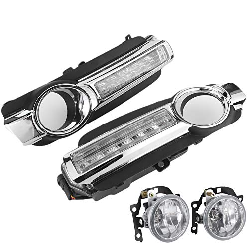 Luz de circulación diurna LED DRL Lámpara de señal de giro antiniebla apta para Pajero Montero 2015
