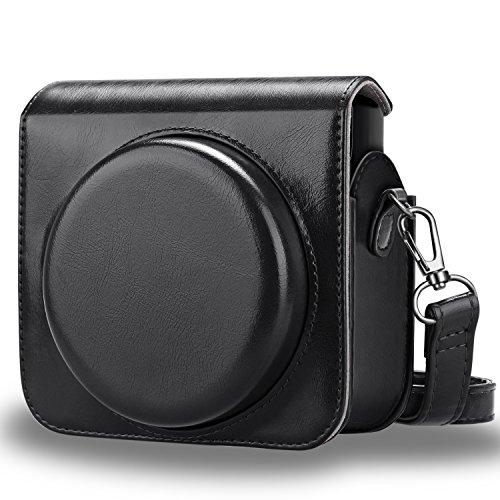 FINTIE Custodia per Fujifilm Instax Square SQ6 - PU Protettiva Case Borsa in Pelle con Tracolla Regolabile per Fujifilm Instax Square SQ6 Fotocamera Istantanea, Nero