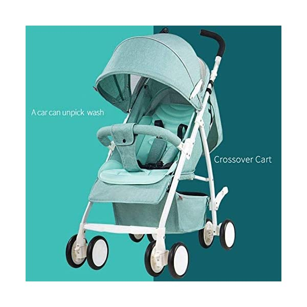 LAMTON Baby Stroller for Newborn, Baby Pushchair,Folding Summer Stroller Lightweight Infant Travel Buggy,80 * 48 * 28/cm (Color : Gray) LAMTON Adjustable handlebars for people of all heights can adjust the most comfortable push position Easy to fold, can be picked up in the trunk of the car, his parents urge him to go shopping, travel, walk, play and talk, or picnic outdoors ★ The weight is 5.2kg,Folded size:80*48*28/cm(31.5*19*11/inches) 2