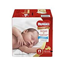 Huggies Little Snugglers Baby Diapers, Size Newborn, 72 Count