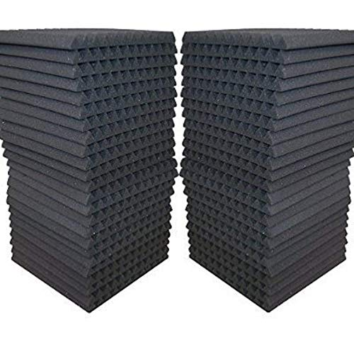 48 Pack - Acoustic Panels Studio Soundproofing Foam Wedge tiles 1