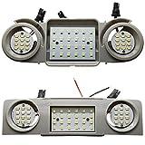 2 x LED interior lighting module – main lighting + reading light front and rear