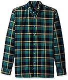 Barney Cools Camisa de cuadros de manga larga para hombre - Azul - Small