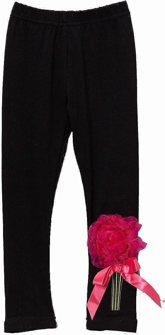 wenchoice Black Organdy Flower Leggings Girl's