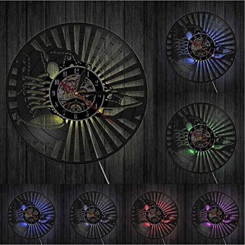 hxjie Zapatillas Arte de Pared Zapatos de Moda Reloj de Pared Zapatos de Lona de Cuero Reloj de Pared con Disco de Vinilo Corriendo High Top Chick decoración de Moda
