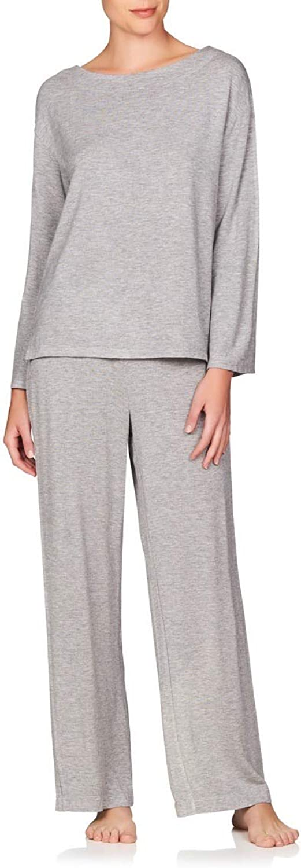 Naked Women's Butterknit Pajama Set  Ladies Long Sleeve Sleep Shirt & Loungewear PJ Pants