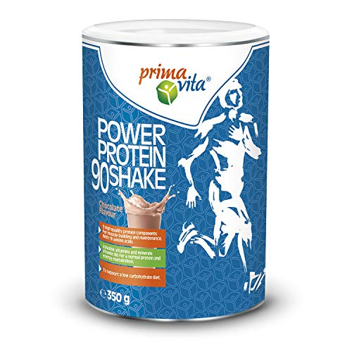 Primavita - Power Protein 90 Shake mit 5 einander ergänzenden Proteinquellen, Schokolade, 350g (11-12 Portionen)