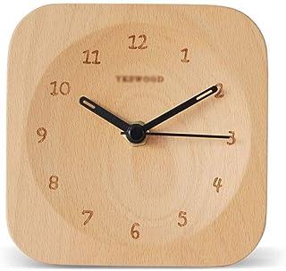 Table Clock مصغرة الجدول ساعة نوم المنبه الصامت الطالب السرير المنبه الجدول ساعة 4.7 بوصة Desk Clock