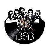 LKCAK Reloj de Vinilo Reloj de Pared Retro Backstreet Boy Banda Vinilo Reloj Vinilo decoración Sala de Pared Reloj de Reloj Reloj de Registro