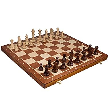 Chess Set - Tournament Staunton Complete No. 6 Board Game - Hand Made European 21 x 21  Set