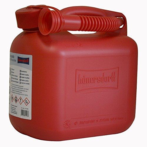 Benzinkanister 5 Liter in Rot mit UN-Zulassung Made in Germany