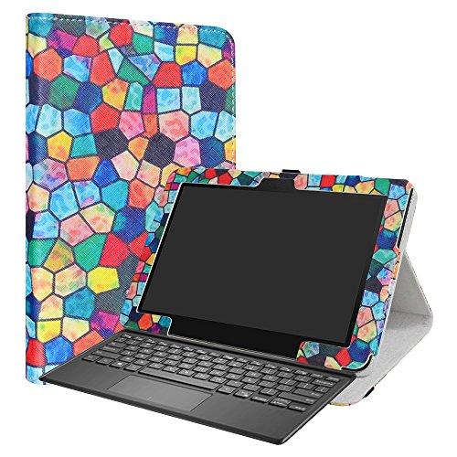 ASUS T103HAF Funda,LiuShan Folio Soporte PU Cuero con Funda Caso para 10.1' ASUS Transformer Mini T103HAF Android Tablet,Stained Glass