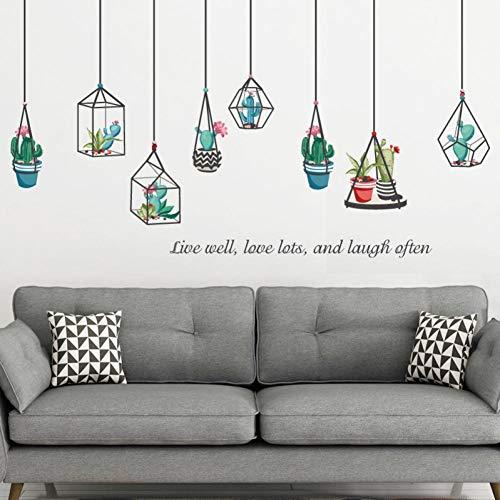 Leeypltm Planten kroonluchters muursticker, waterdichte muursticker, afneembaar muursticker, moderne muurdecoratie, sticker uitgangsdecoratie, kan als verjaardagscadeau worden gebruikt