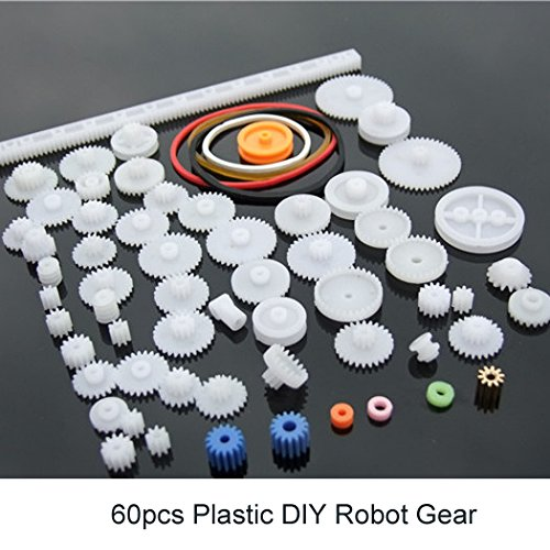 Plastic Gear Kits DIY Robot Toothed Wheel Assortment Toys Spur Crown Worm Gear Sets For Kids 60pcs/set