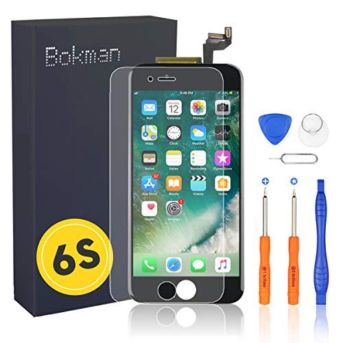 bokman Écran Tactile LCD pour iPhone 6s Noir, Vitre Tactile avec Kit de Réparation