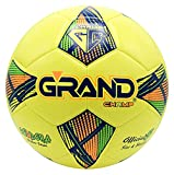 Grand Champ Cordoba - Balón de fútbol para adultos y niños, tamaño 5, 4, 3, 100% poliuretano, tamaño oficial, 5, para entrenamiento profesional en interior/exterior. (5, amarillo)