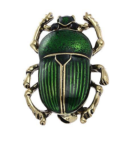 Handgearbeitete, schimmernde Käfer | Skarabäus Brosche (Green)