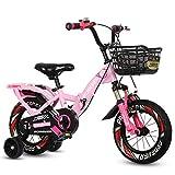TCGYX Bicicleta for nios con Rueda de Entrenamiento Coche for nios y nias Adolescentes, 12 14 16 18 Bicicleta Plegable de 20 Pulgadas, Disponible en una Variedad de Colores