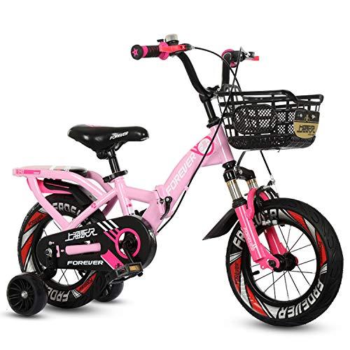 TCGYX Bicicleta for niños con Rueda de Entrenamiento Coche for niños y niñas Adolescentes, 12 14 16 18 Bicicleta Plegable de 20 Pulgadas, Disponible en una Variedad de Colores