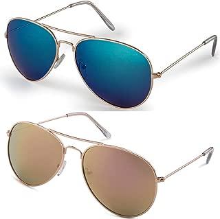 Aviator Men and Women Polarized Sunglasses Metal Frame with UV400