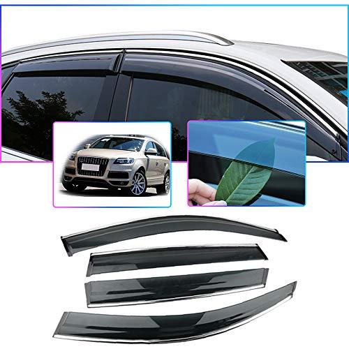 Auto Windabweiser Für A UDI Q7 2006-2015 Seitenfenster Blockiere die Sonne und den Regen Durchscheinender Fensterabweiser 4 Stück Set