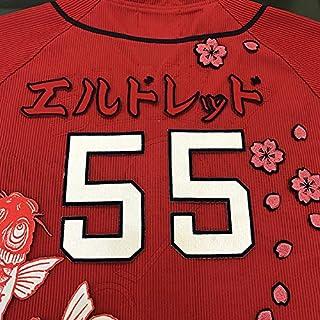 広島 カープ 刺繍ワッペン エルドレッド 名前 赤 ブラッドcarp応援刺繍ユニホーム グッズ...
