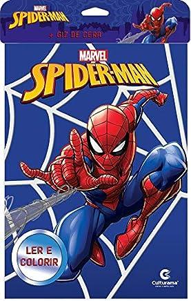 Homem Aranha Novo - Ler e colorir com Giz