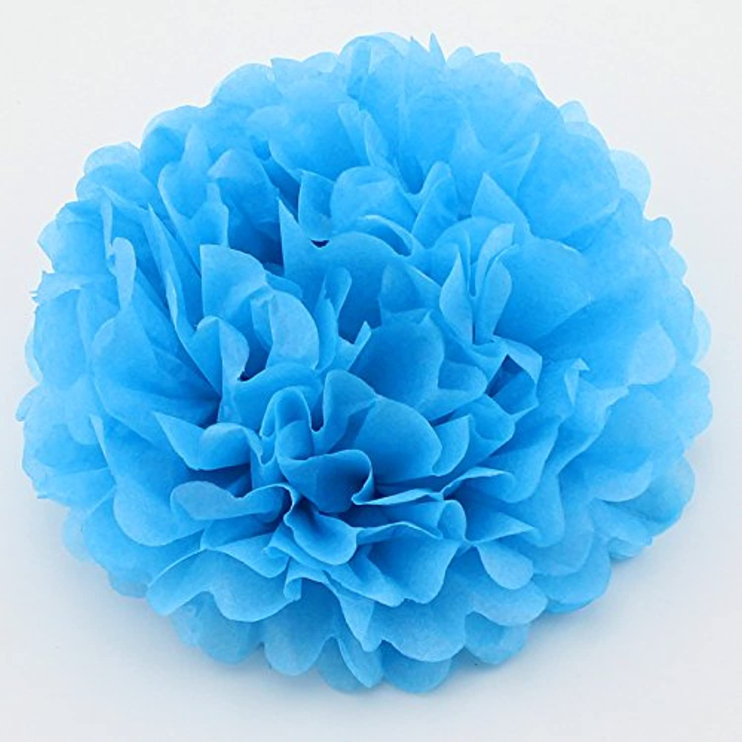 Since 8-Inch Tissue Pom Poms Party Decorations for Weddings, Birthday Parties and Baby Showers,Set of 5 (Sky blue)